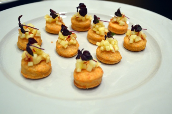 Blank Slate Culinary cheddar apple biscuit canape