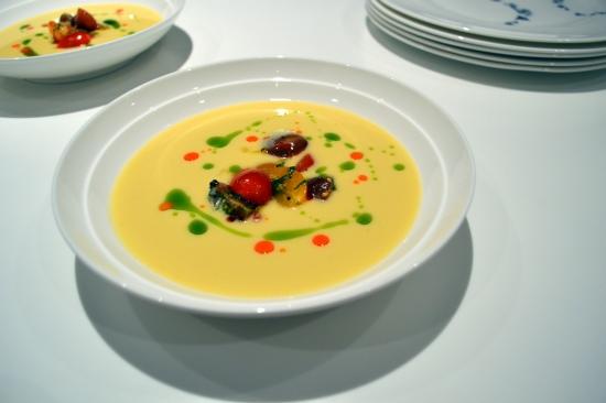 Blank Slate Culinary corn soup dish