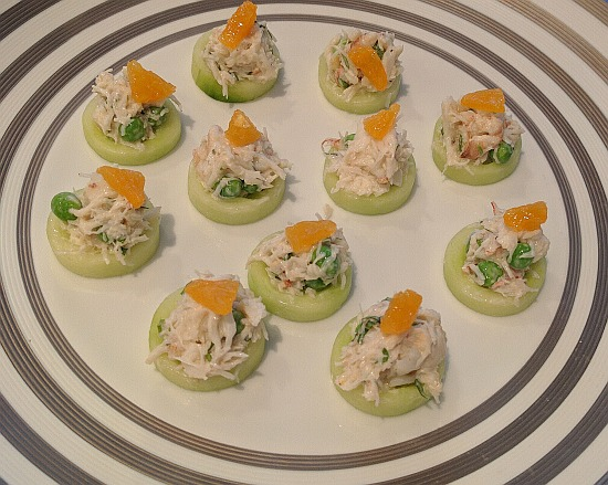 Blank Slate Culinary crab canape