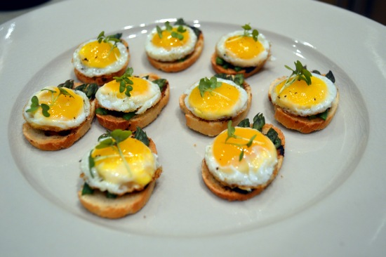 Blank Slate Culinary egg and asparagus canape