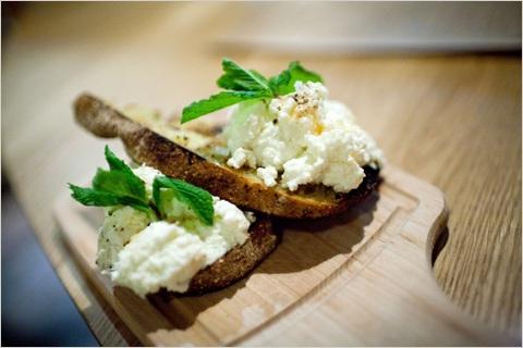 Blank Slate Culinary ricotta crostini